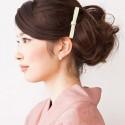 着物に合う髪型簡単アレンジ、40代 ミディアム編